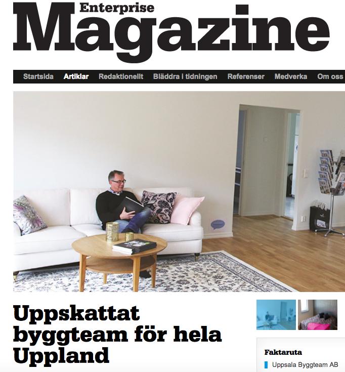 Uppsala Byggteam, Enterprise Magazine